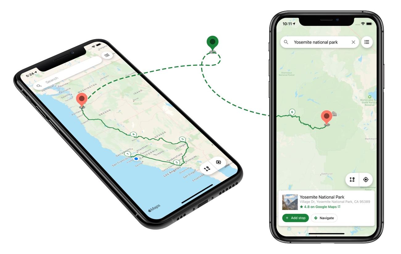 Roadie Road Trip Planner App